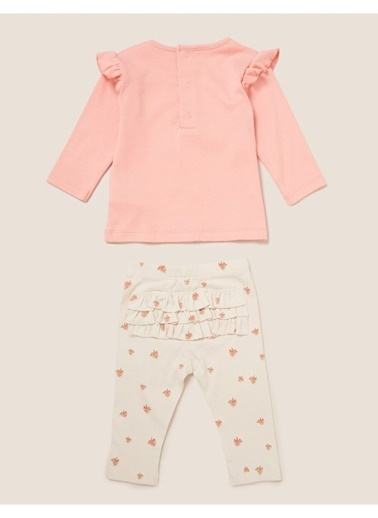 Marks & Spencer Zürafa Baskılı Pijama Seti Pembe
